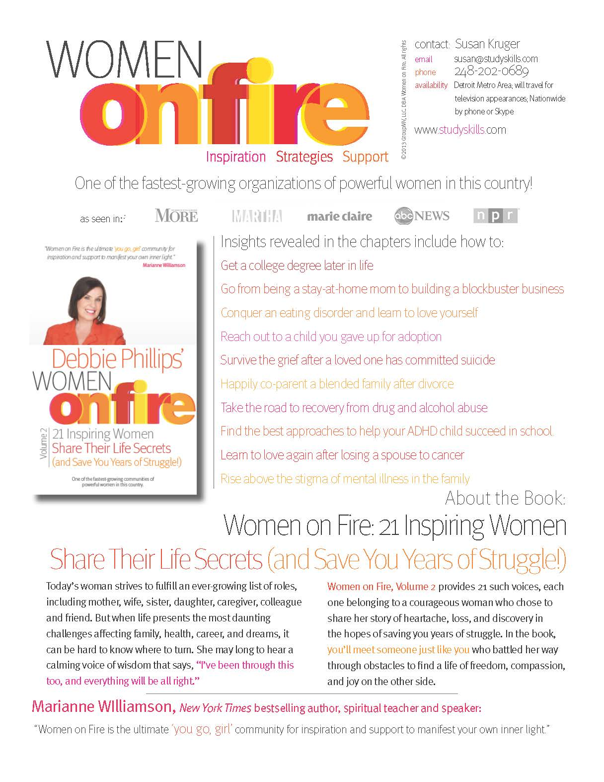Final Updated Women on Fire Book One Page Susan Kruger.1