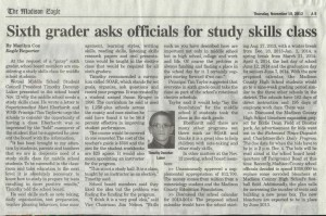 Timothy Newspaper article