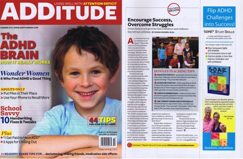 Summer, 2013: ADDitude Magazine