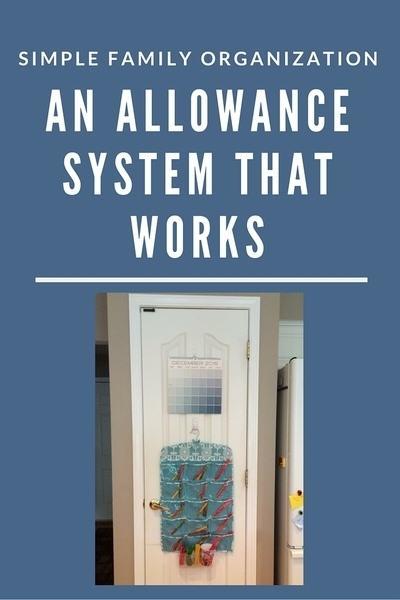 Calendar Organization System : Simple family organization an allowance system that works