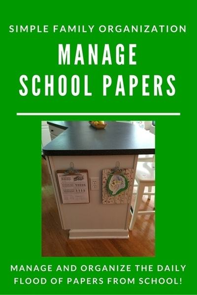 organize school papers at home