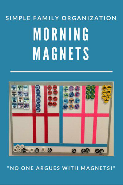 Simple Family Organization - Morning Magnets