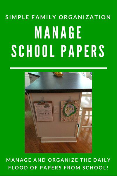 Simple Family Organization: Easily Organize School Papers