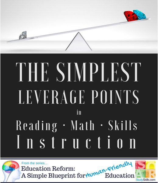 The Simplest Leverage Points in Reading Math and Skills Instruction