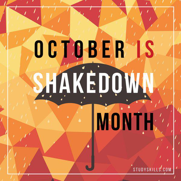 "October Is ""Shakedown"" Month!"