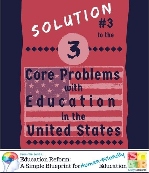 Solutions for Core Problem #3 with Education in the United States