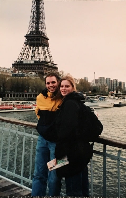 Brian and Susan in front of the Eieffel Tower